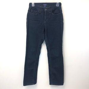 NYDJ Dark Wash Hi Rise Straight Leg Jean Size 4P